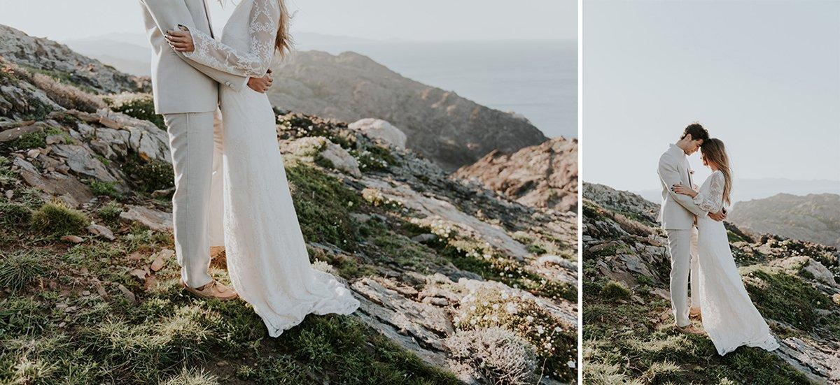 Sesión de postboda en el cap de Creus. Fotógrafos de bodas en Girona