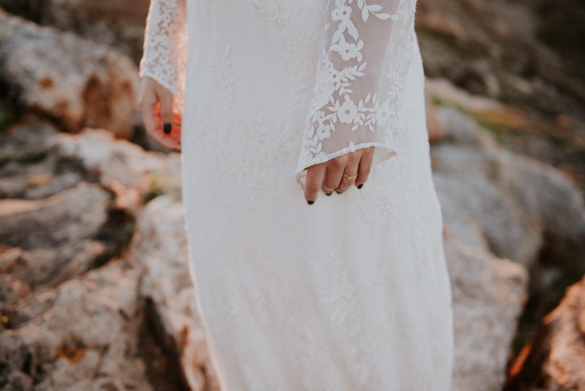 Detalles de vestido de novia de Otaduy
