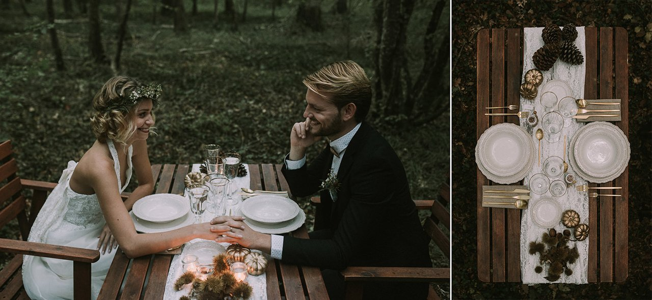 Intimate elopement in the wood
