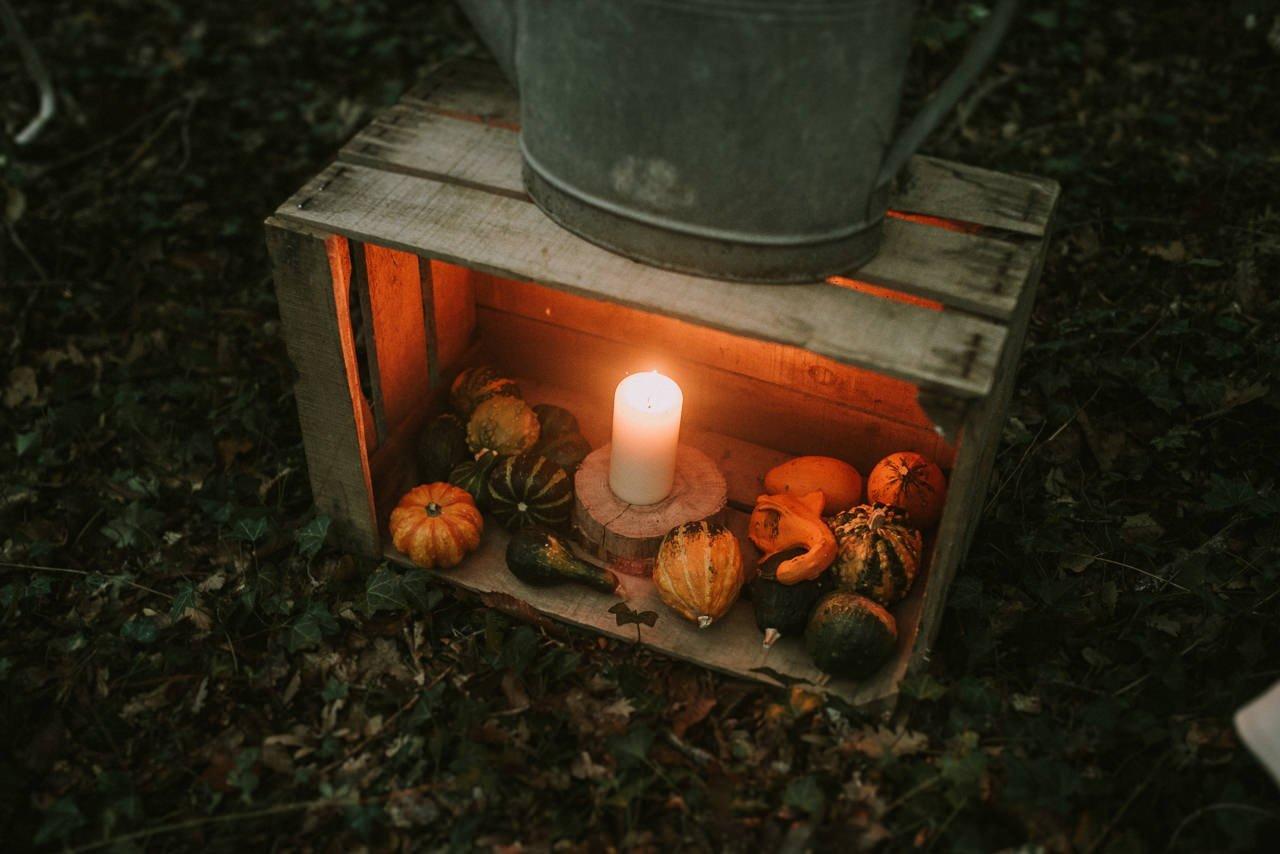 Decoración para bodas con velas