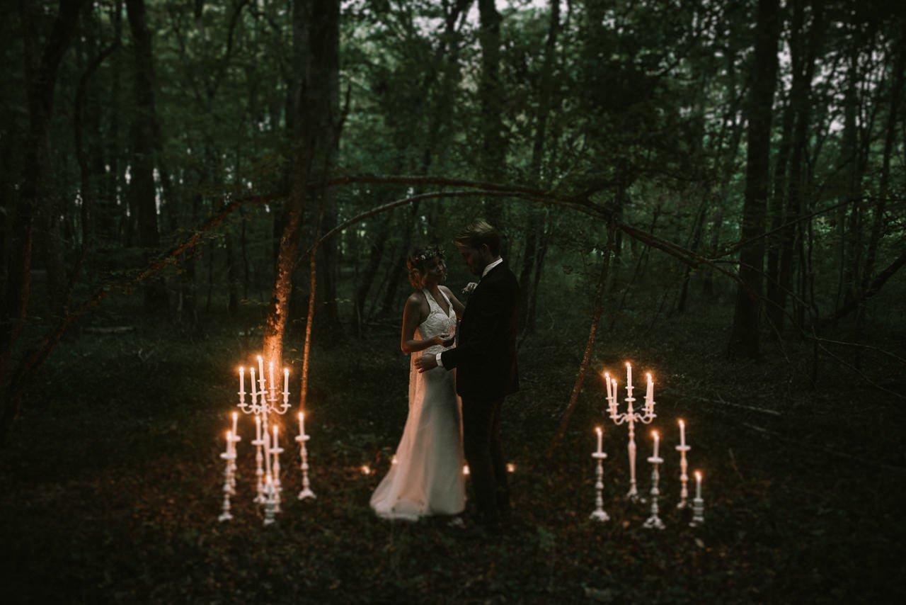 Fotografía de bodas a la luz de velas