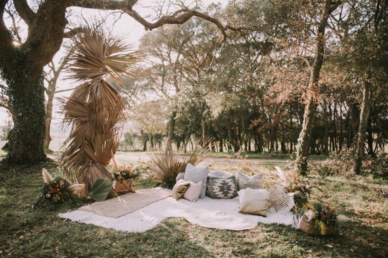 decoracion estilo boda boho chic