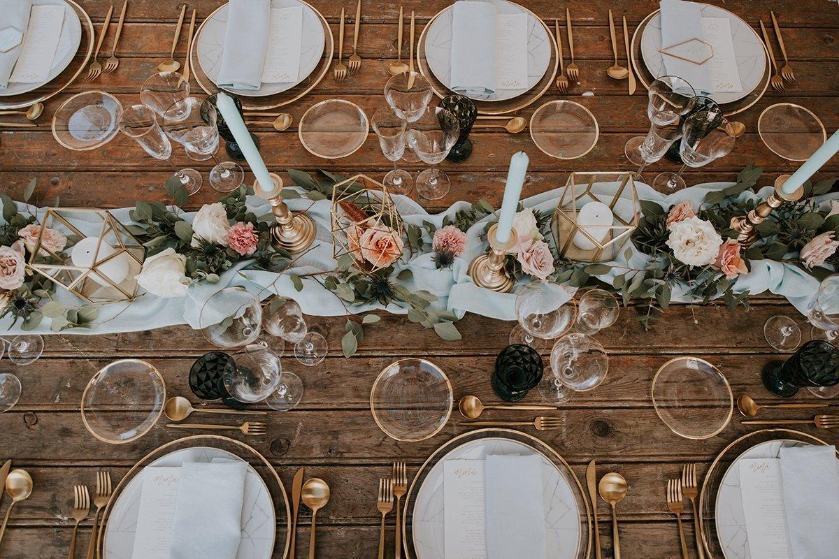 decoracion de mesa de bodas
