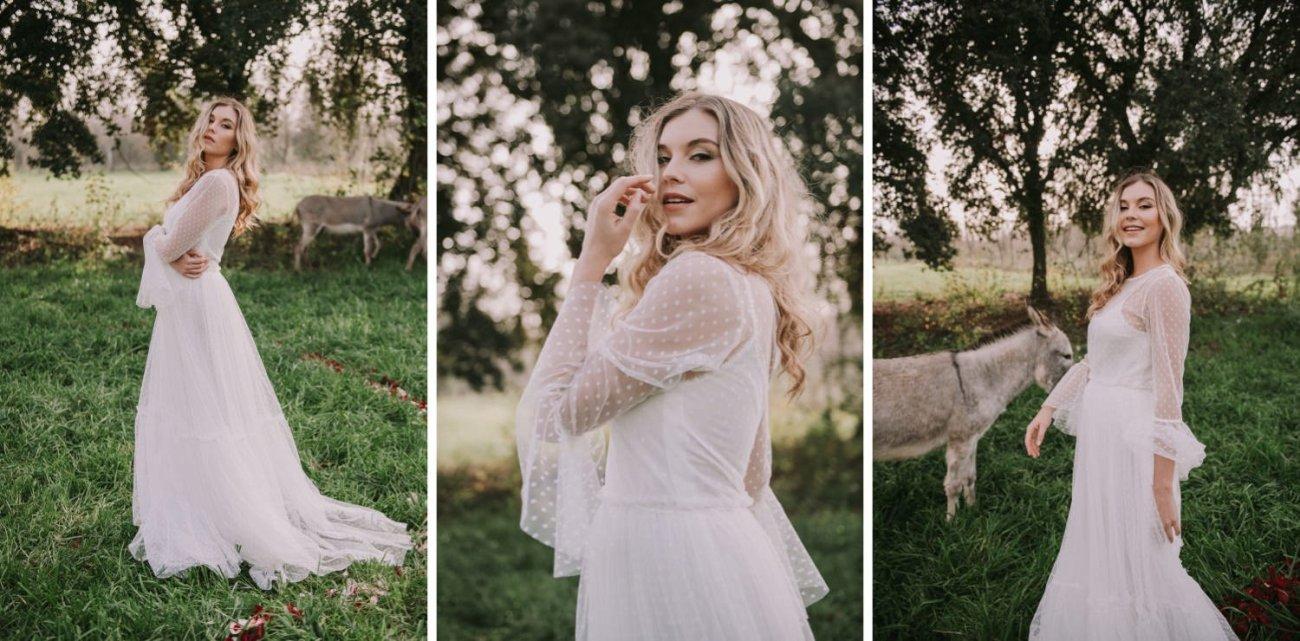 vestido de novia de plumeti de sandra jorda