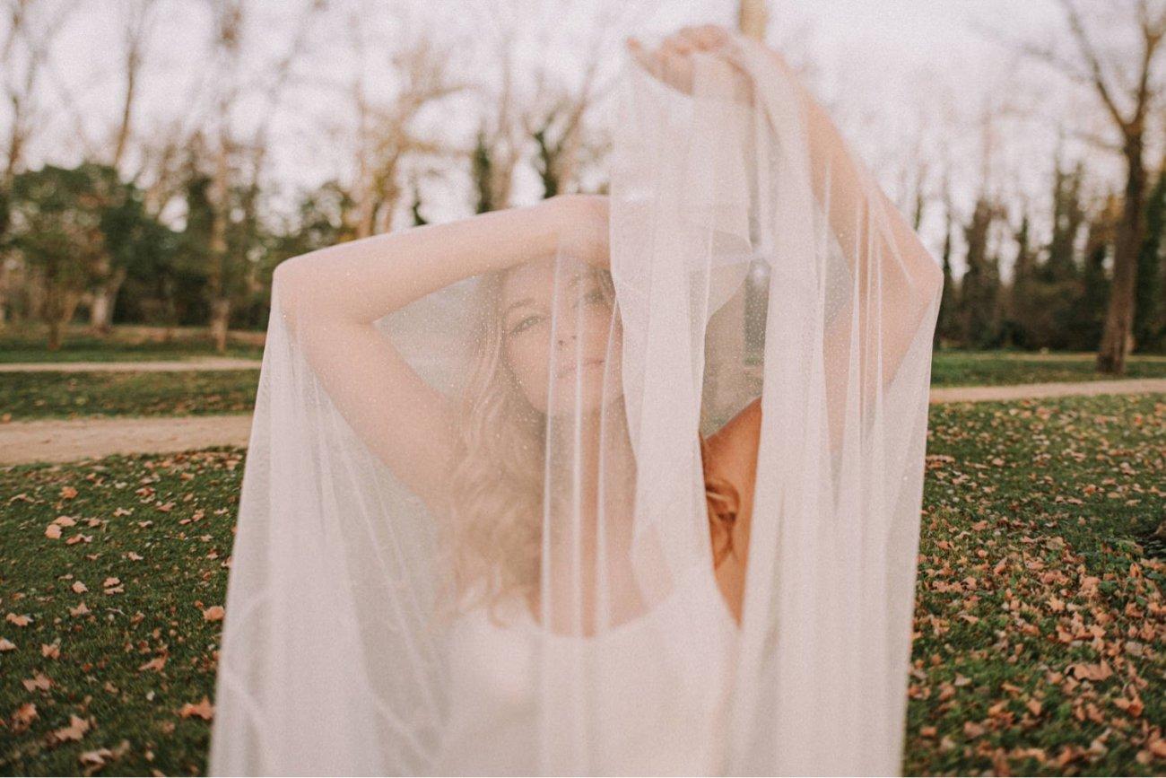 fotos de novias lencero y velo