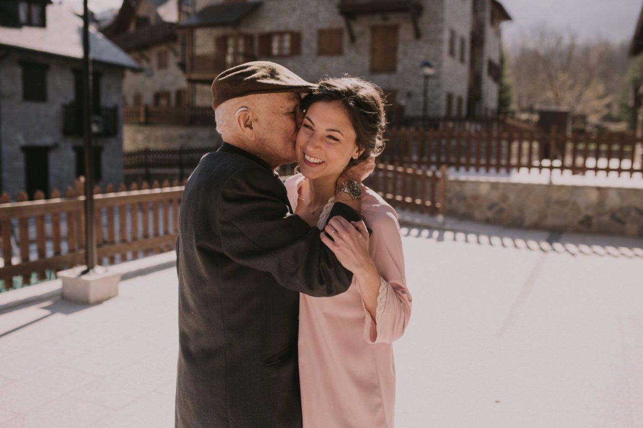 fotos emotivas abuelo novia