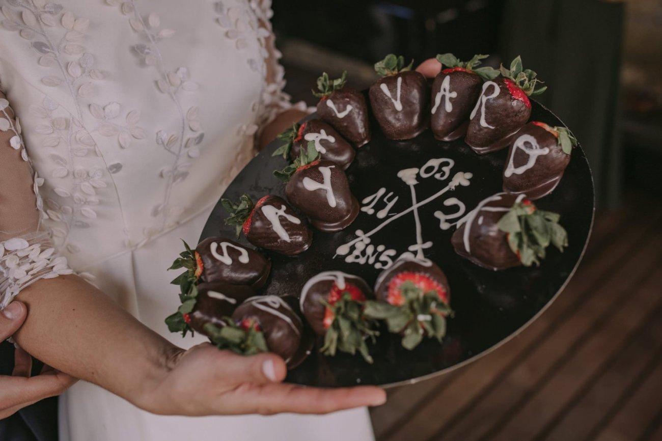 tarta de bodas improvisada