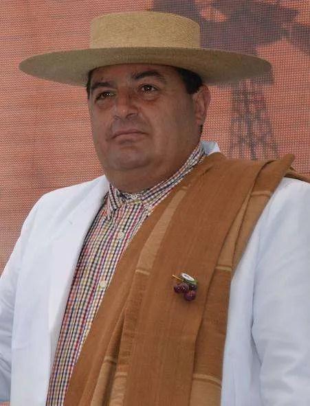 El alcalde de Marchigüe, Héctor Flores