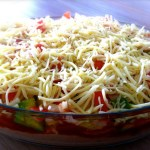 Espagueti con tomates y aceitunas Receta