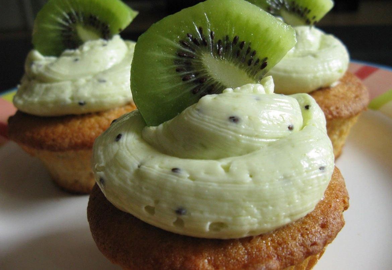 Cupcakes Kiwi Vainilla