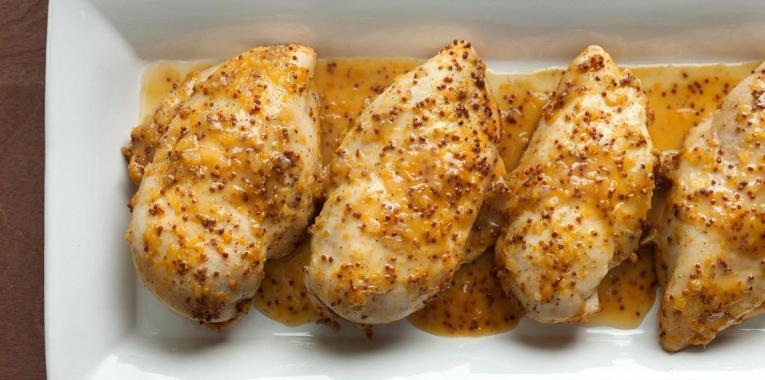 Pechuga de Pollo con Mostaza y Naranja