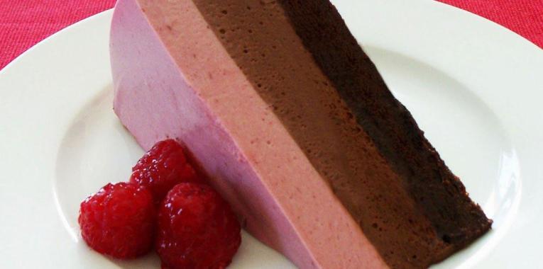 Mousse de Frambuesa y Chocolate