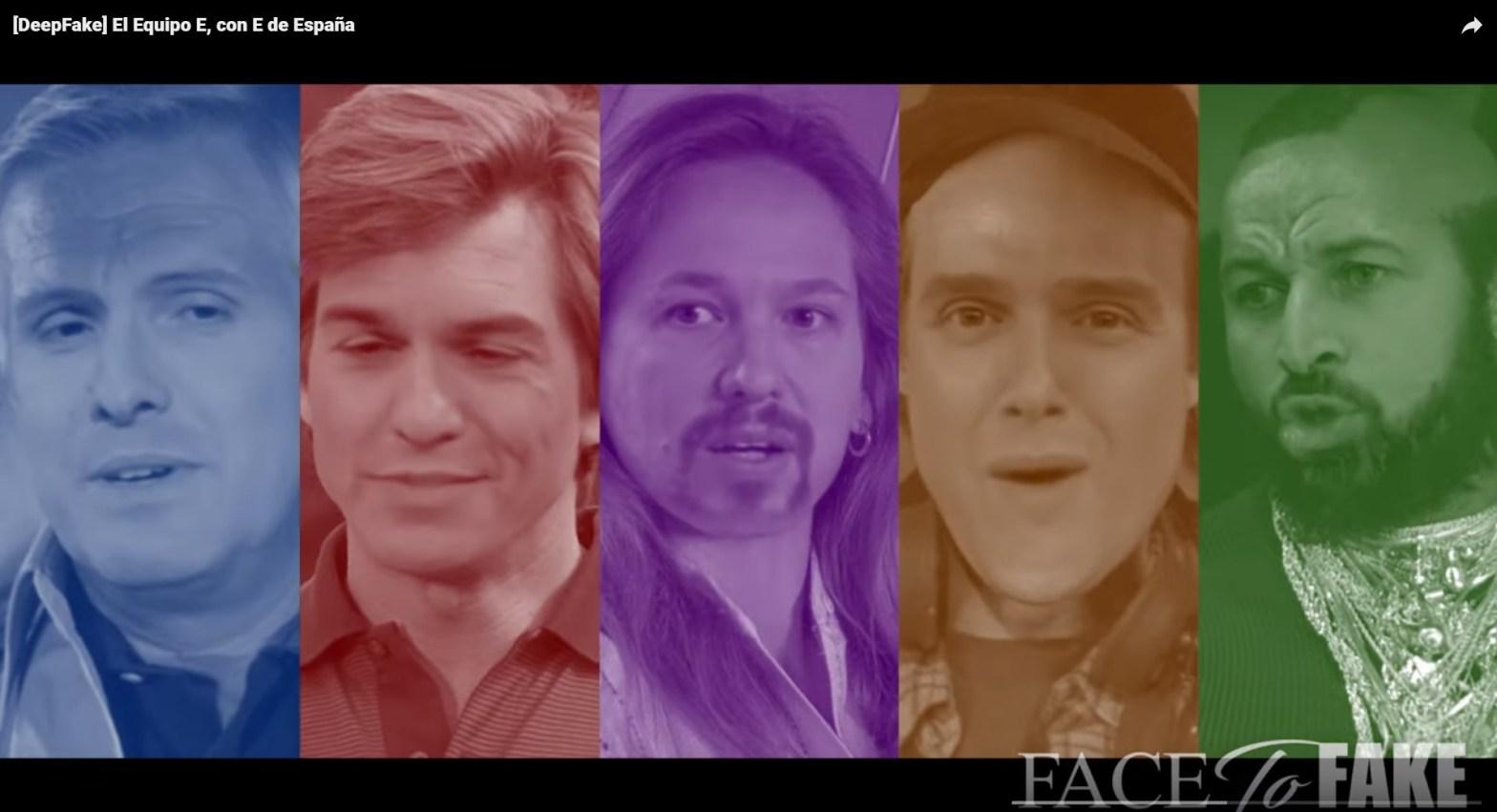 Deepfake políticos españoles - El Equipo E (de España) - Parodia de El Equipo A