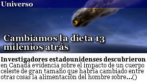 CAMBIAMOS DE DIETA 13 MILENIOS ATRAS