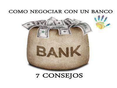 como negociar con un banco