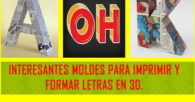Letras 3D Moldes