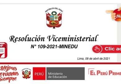 Implementación del Programa de Formación y Capacitación Permanente durante el Año 2021(RM N°109 – 2021 MINEDU)[Descarga Aquí]