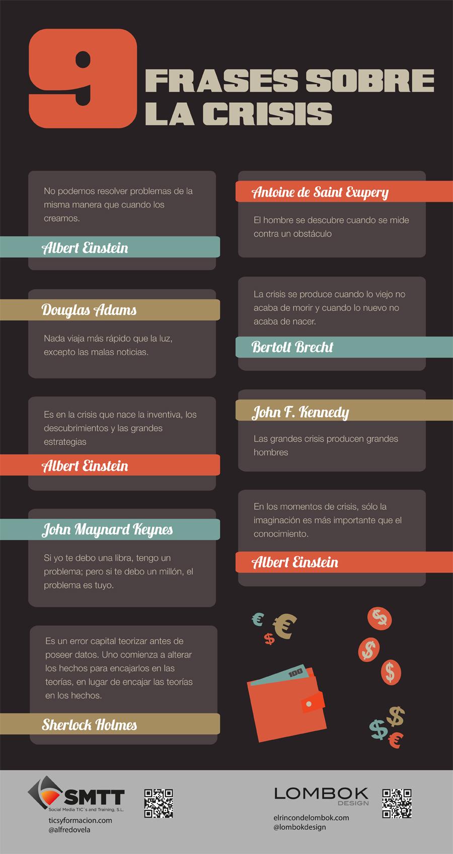 9 frases históricas sobre la crisis. #infografia #infographic