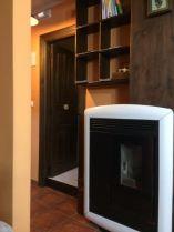 Calefacción eficiente de pellet mediante aire canalizable.