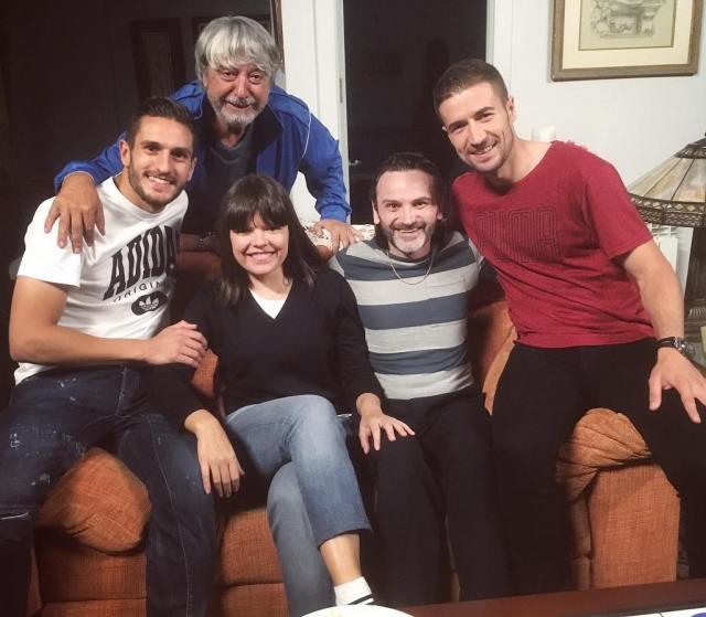 Gabi y koke con Ricardo Arroyo Fernando Tejero y Laura Caballero