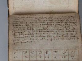 Una de las páginas de manuscrito subastado - Toveey's
