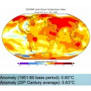 NASA 2013 annual temperature anomalies