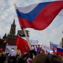 Russian demonstrators. Photo NY Times