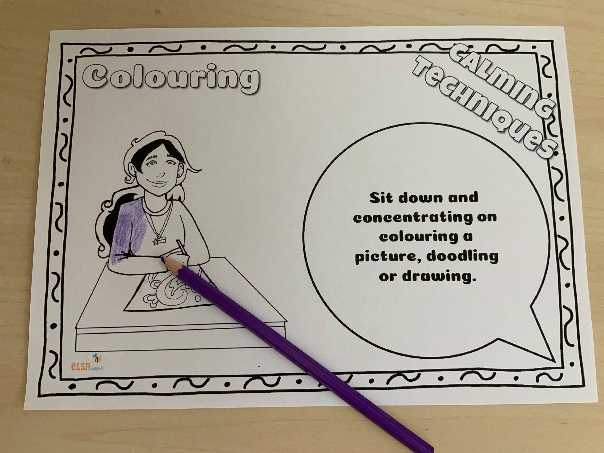 Calming Strategies Worksheet