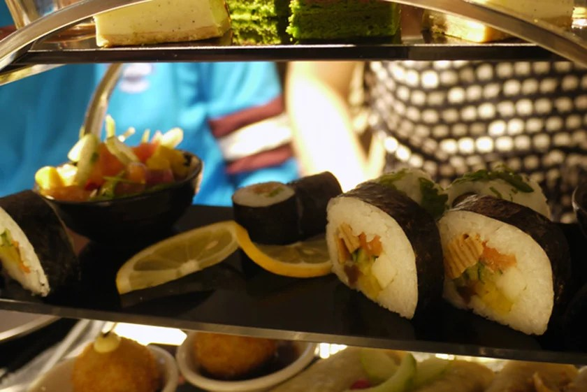 Middle tier of the Pan Asian Afternoon Tea
