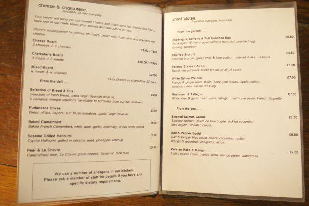 Wood Deli menu