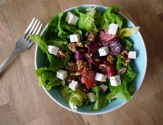 Beetroot and feta salad
