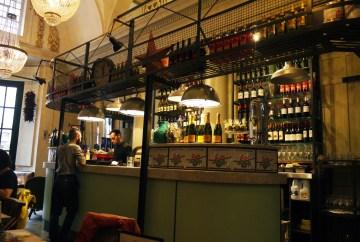Interior of Bill's Restaurant in Holborn