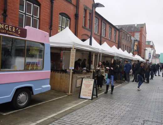 The market on Bridgeford Street