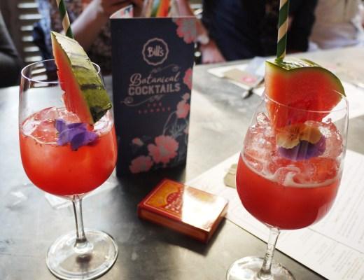 Summer Rum Punch: The Duppy Share Caribbean Rum, jasmine, orange and hibiscus tea, watermelon juice - £6.95