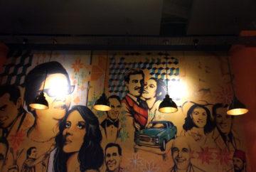 Mural inside Bakchich