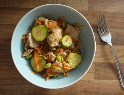 Japanese style cucumber and carrot salad