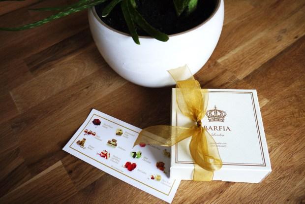 Barfia box and sample menu