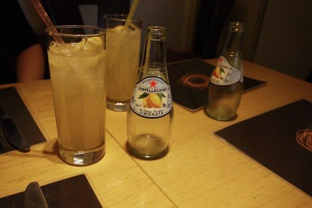 Sam Pellegrino lemonade