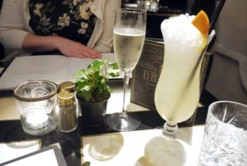Prosecco (£6.75) and Earl Grey Sling (£9)
