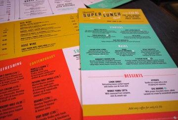Jamie's Italian King St, Super Lunch menu