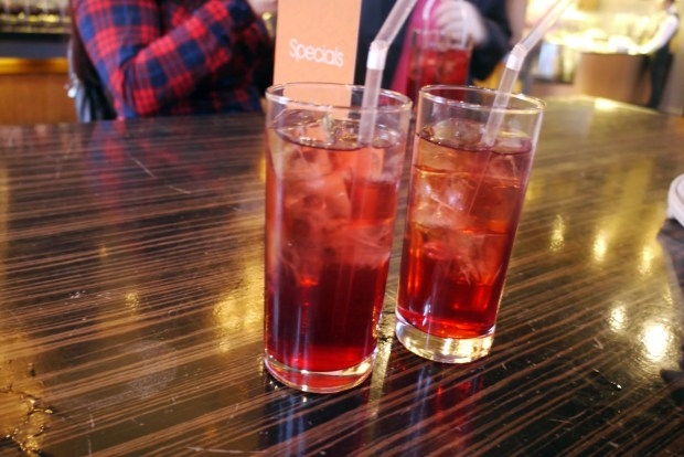 Creme de Cassis with soda