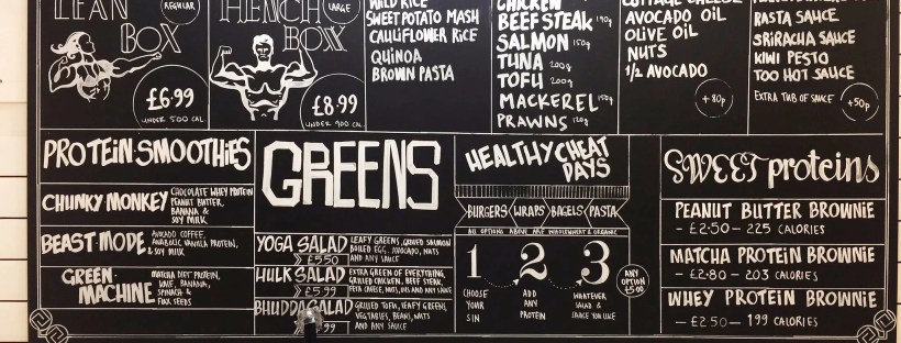 Gym Shack Menu - Photo by Gym Shack
