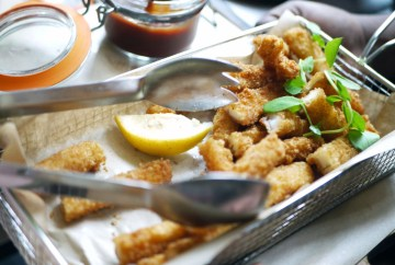 Crispy calamari strips with Virgin Mary ketchup £4.49