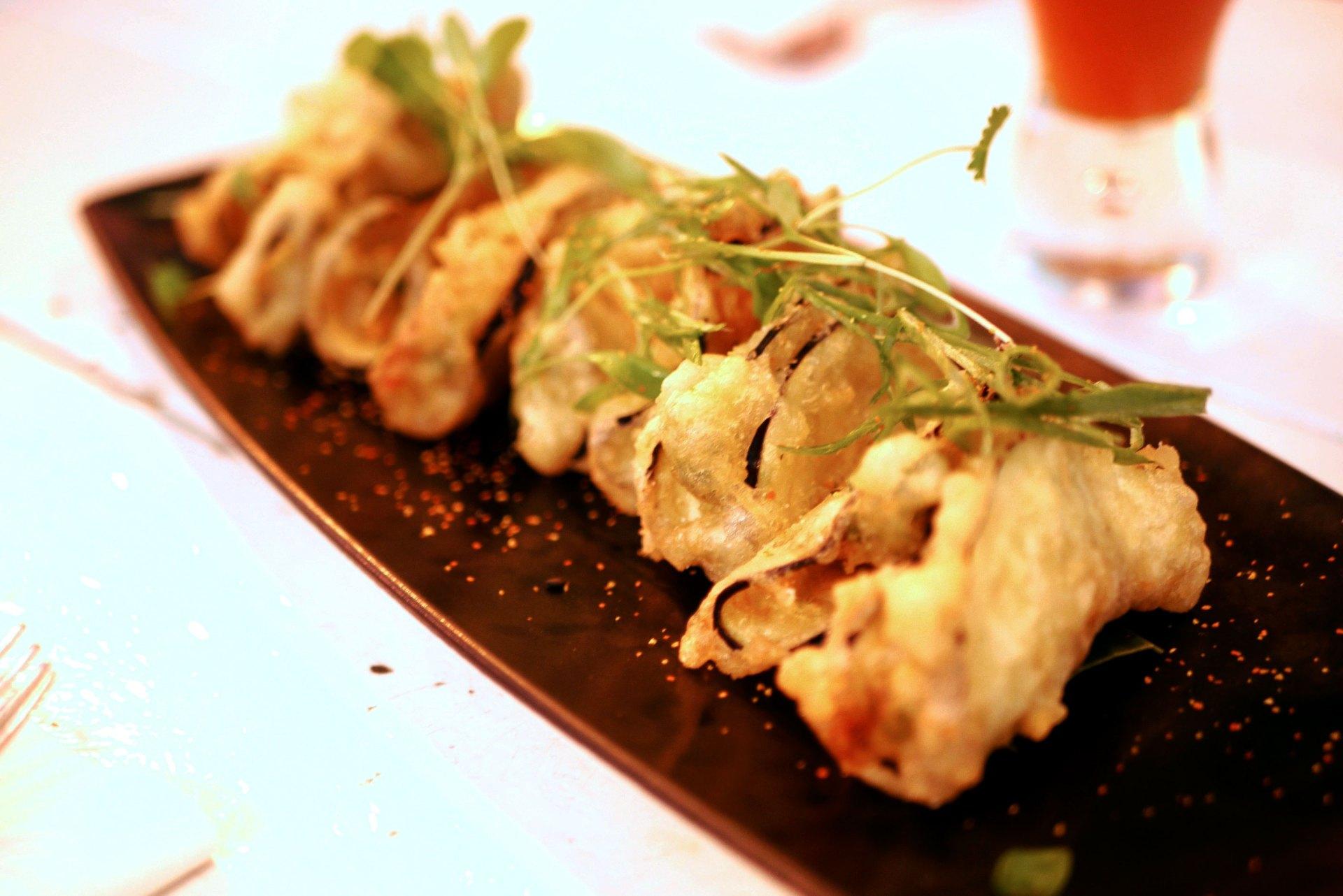 Aubergine tempura