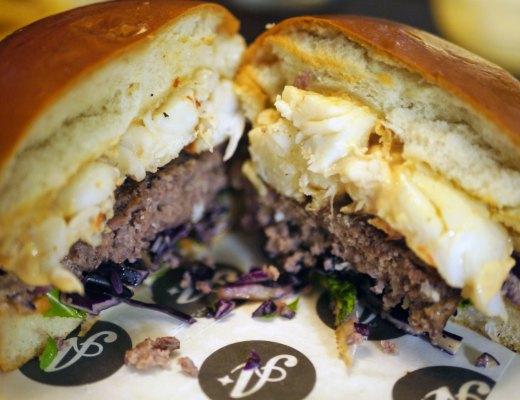 Inside the High Roller burger