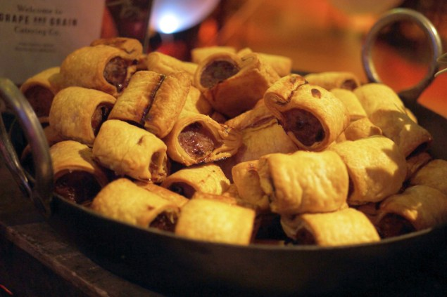 Grape and grain catering - sausage rolls
