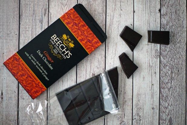 Beech's Dark Chocolate Ginger bar