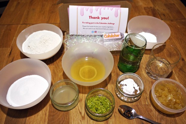 Vegan gin and tonic cake ingredients