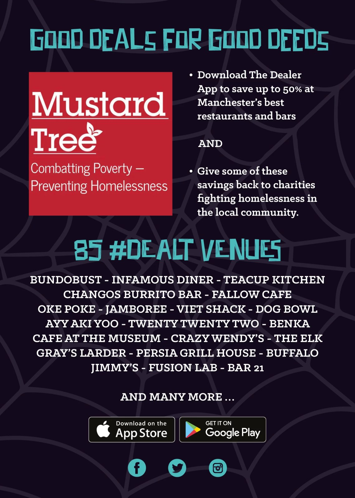 Charities and venues