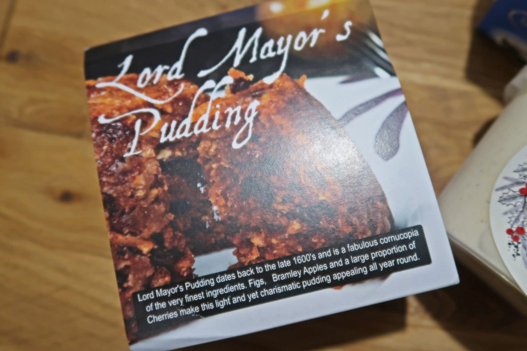Lord Mayor's pudding, packaging